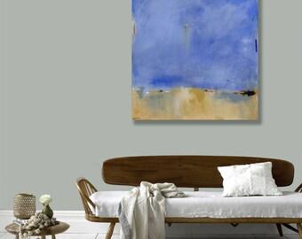 Ready to Hang Minimalist Abstract Landscape, Canvas Print, Large Beach Print, Maine Coastal Art, Coastal Decor, Colorful, West Elm Artist