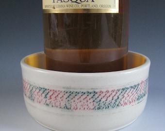 Ceramic Pottery Wine Bottle Coaster White Red Green