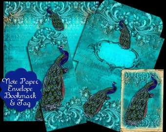 Turquoise Note Paper Set
