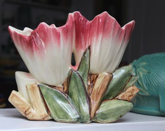 McCoy Pottery Double Tulip Vase 1953 VINTAGE by Plantdreaming