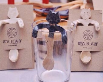 Spoon for coffee or tea cat shape