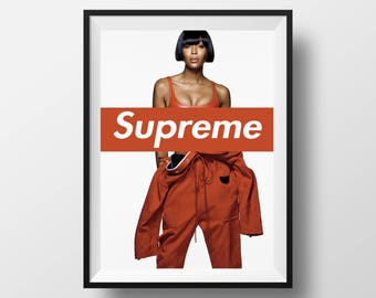30%OFF! Naomi Campbell Supreme Poster Fashion Print Decor Digital Prints Fashion Wall Art Naomi Campbell Supreme Wall Decor Naomi Supreme