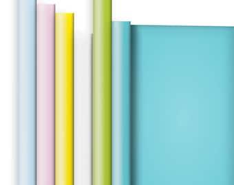 Jillson & Roberts Solid Color Matte Gift Wrap Roll Assortment, Pastel (6 Rolls)