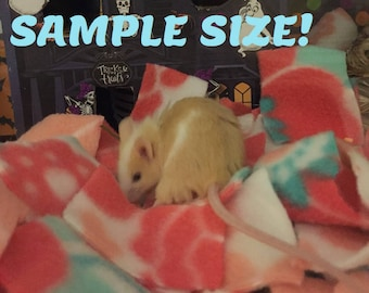 Reusable washable bedding for hamsters, mice, rats, and other small animals 25 different colors- Sample baggie