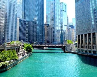 Canvas Print, Chicago Architecture, Chicago River, Chicago, Chicago Photo, Chicago, Art, Fine Art Print, Chicago Photo, Chicago Art