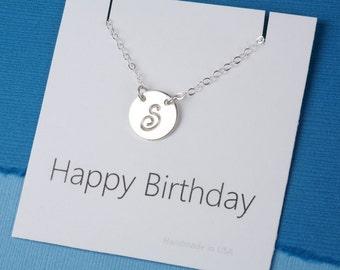 Monogram custom initial Necklace, Initial Charm Necklace,Birthday card,Celebrity initial necklace,Bridesmaid gifts,Wedding bridal Jewelry