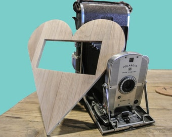 Rustic Homemade Heart Shaped Picture Frame, Heart Shaped Picture Frame, Recycled Wood Picture Frame, Recycled Wood Heart Shape Picture Frame