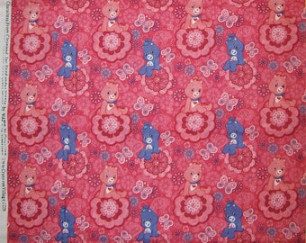 A Care Bears With Love-A-Lot Bear Cotton Fabric BTY Free US Shipping