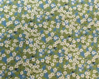Liberty Fabric, Tana Lawn Mitsi 9'' x 26''  Green