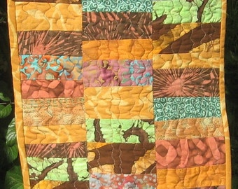 Art Quilt Wall Hanging Autumn Jewels