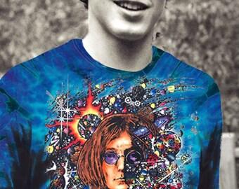 John Lennon t-shirt tie dyed 100% cotton