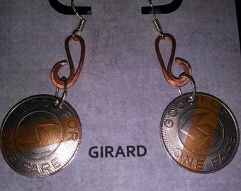 Girard Septa Token Earrings
