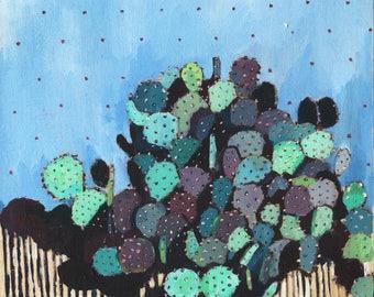Cactus Original Oil Painting