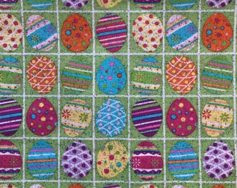 Easter Egg fabric/glitter Easter egg/colored eggs fabric/easter fabric/spring fabric/dyed eggs fabric/decorated eggs/