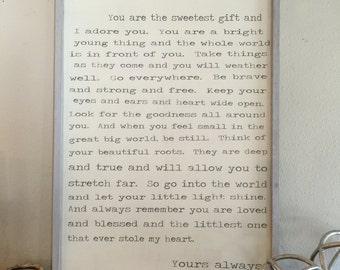 Beautiful Darling, 24x36, Framed Wood sign
