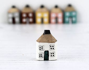 Pencil House, Miniature House Ornament, Handmade Cottage, Housewarming Gift, New Home Gift, Teacher Gift, Little Wood House, Custom Colour