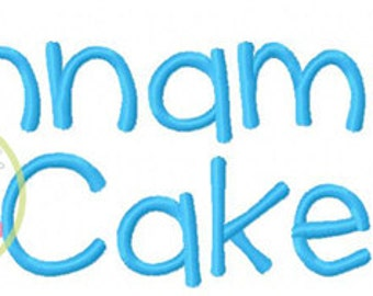 "Cinnamon Cake Embroidery Font  1"", 1.5"", 2.0"", & 2.5"" INSTANT DOWNLOAD now available"