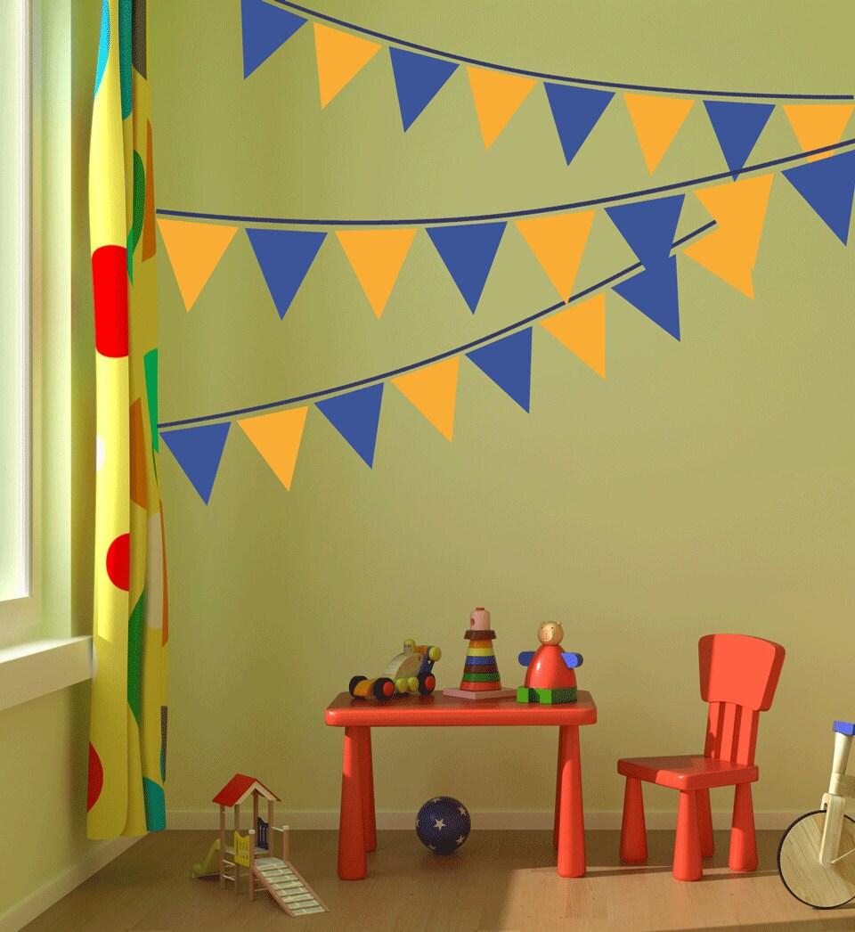 Banner Flag Wall Decal nursery wall art kids bedroom teen