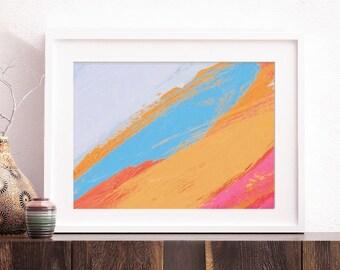 Bluebird Abstract - Art Print