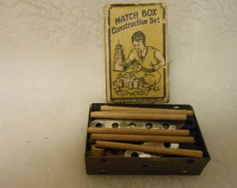 1920's Complete Match Box Construction Set