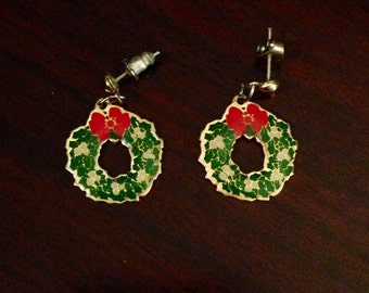 x Vintage Christmas Wreath Earrings (#2)