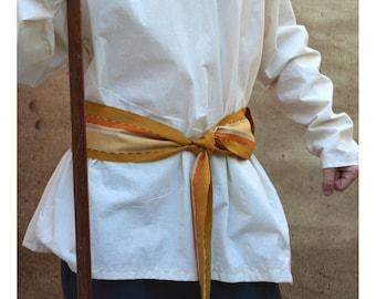 Citrine Yellow Sash SA13 - Gold Sash Belt - Guatemalan Textiles - Ethnic Belt - Boho Chic Fashion - Pirate Costume Accessories - Woven Belt
