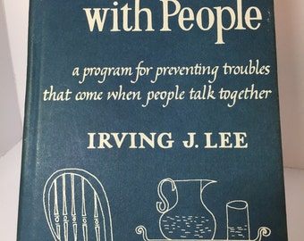 Vintage How To Talk With People by Irving J. Lee, Vintage Book