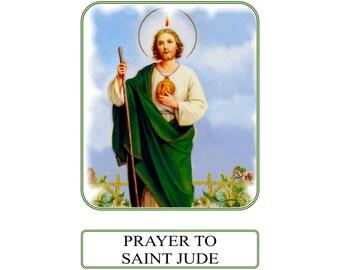 Saint Jude - Hopeless Causes Prayer Card