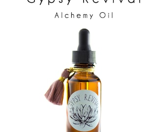 1 OZ. Alchemy Oil - All Natural Face Oil with Maracuja and Rosehip. By Gypsy Revival Skincare.