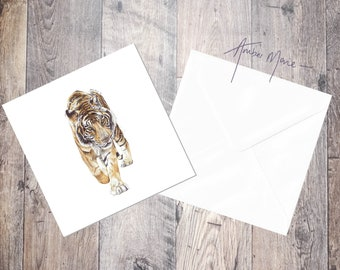 Tiger / Bengal Tiger / Big Cat Greeting Card / Blank Inside