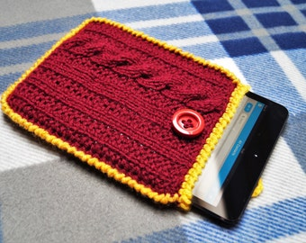 Crochet tablet case,iPad sleeve,Tablet cover