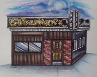 Sebastian's, by Karen Paciullo, 2014, Throggs Neck, Bronx, NY, ready to frame art print