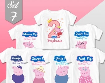 Mommy or Daddy Pig birthday shirt to match! Mommy pig shirt, daddy pig, Peppa's Mommy and Daddy shirts, Peppa pig birthday shirts, peppa pig