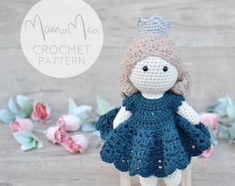 Crochet Princess Adelais Doll | MamaMea Crochet Pattern