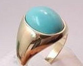 AAAA Sleeping Beauty Turquoise from Arizona   15x12mm   14K gold ring 13 grams 029 MMM