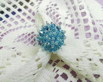 Ring with Aquamarine Swarovski