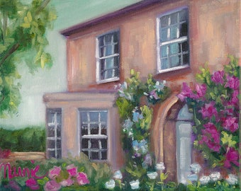 Dowagers Paradise, painting, country art, oil painting, ready to hang, original art, floral