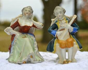 Vintage Set of 2 Porcelain Figurines Made in Occupied Japan