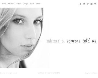 Performer Wordpress Website Design Custom Personal Website Design Performance Artists Portfolio Website Web Design Wordpress Website Design