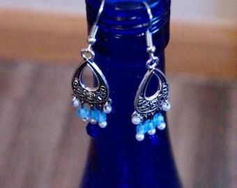 Fancy Blue Earrings
