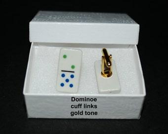 Mens' Dominoe Jewelry...cuff links or tie-tac/hat pin