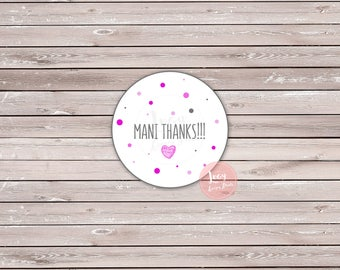 Mani Thanks Printable Favor Tags, Baby Shower / Sprinkle, Bachelorette Party / Bridal Shower, Pink