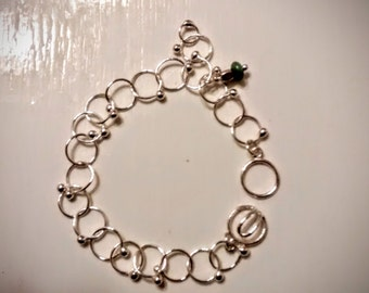 Fine Silver Link Chain with Balls