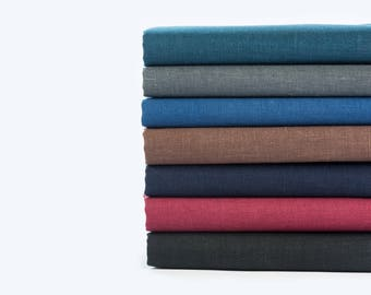 Home Decor Linen Fabric By Meter Natural Linen Fabric 100% Linen Fabric By Yard Black Linen Brown Linen
