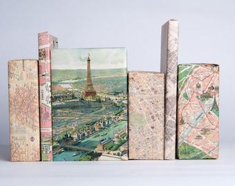 Paris Maps Gift Wrap / 12 Sheets