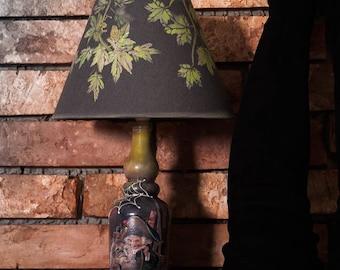 Lamp from bottle.