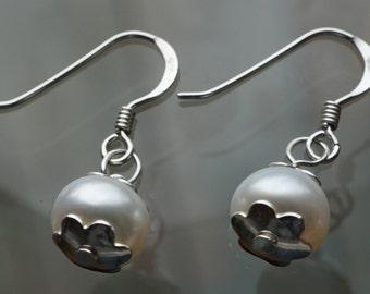 Sterling Silver Freshwater Pearl Earrings *Bridal earrings *Gift for Her * Pearl Jewelry *June Birthstone