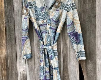 70s dress, vintage hippie, boho, Checkaberry,