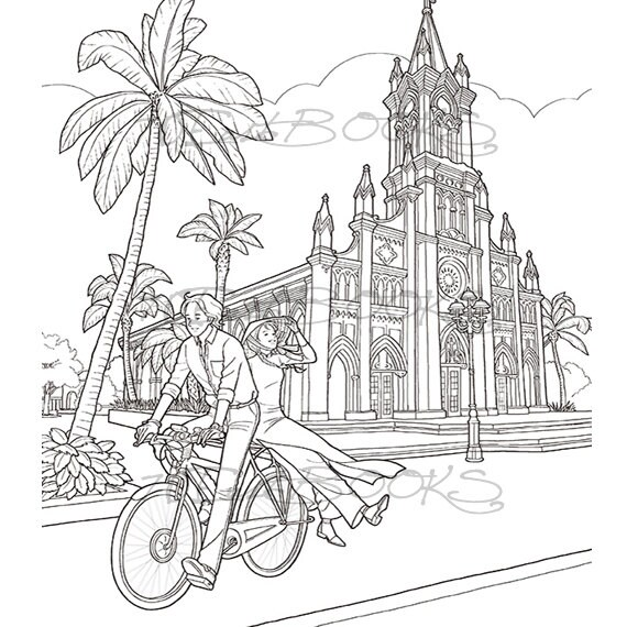 The Beginning Coloring Book for adult Fashion Travel Lovers