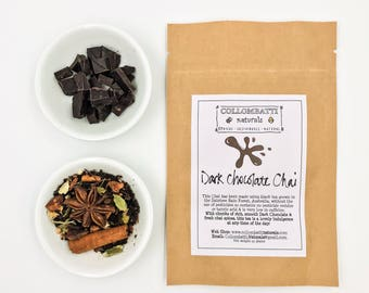 Tea - Rich Dark Chocolate Chai - Mothers Day Gift - Australian Grown Loose Leaf - Birthday - Thank You - Eco Gift - Biodegradable Packaging!